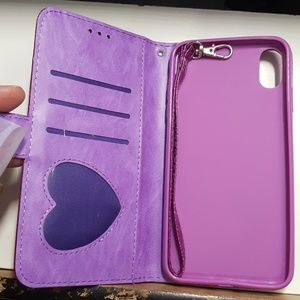 """unbranded Accessories - Case for iphone xs max 6.5"""" purple glitter new"""